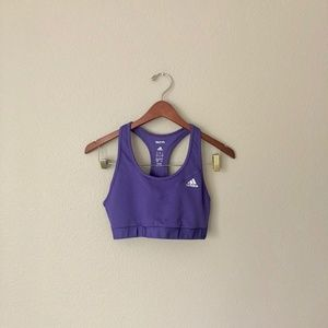 Adidas Purple Techfit Sports Bra